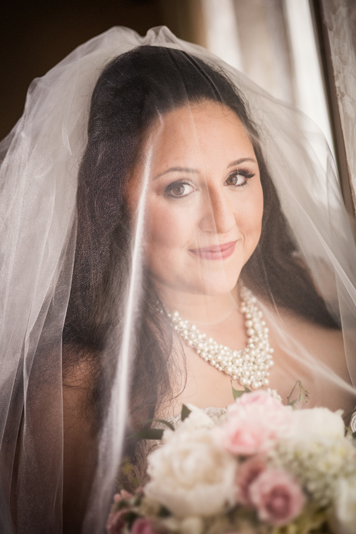 Rachael & Andrew - Elegant Greystone Hall Wedding | Photos by Black Dog Photo Co | As seen on TodaysBride.com | Real ohio wedding, Greystone hall, elegant blush and navy wedding, wedding photography, wedding bridal hair and makeup with veil, bridal jewelry and accessories