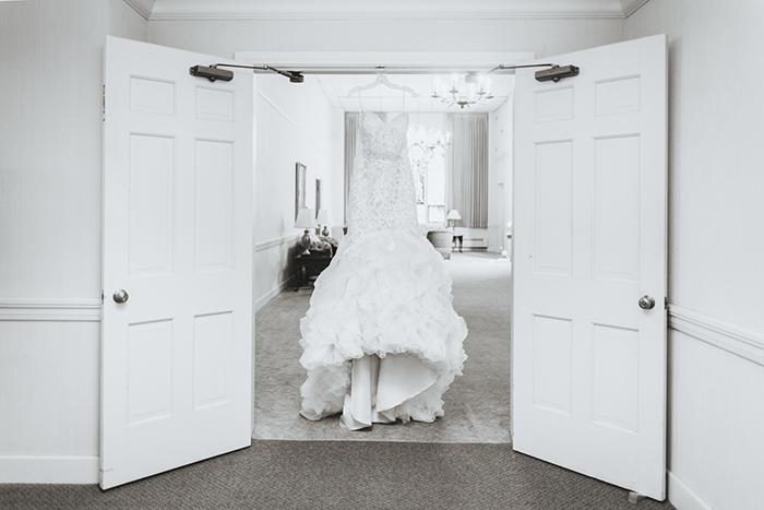 Rachael & Andrew - Elegant Greystone Hall Wedding | Photos by Black Dog Photo Co | As seen on TodaysBride.com | Real ohio wedding, Greystone hall, elegant blush and navy wedding, wedding photography, wedding dress