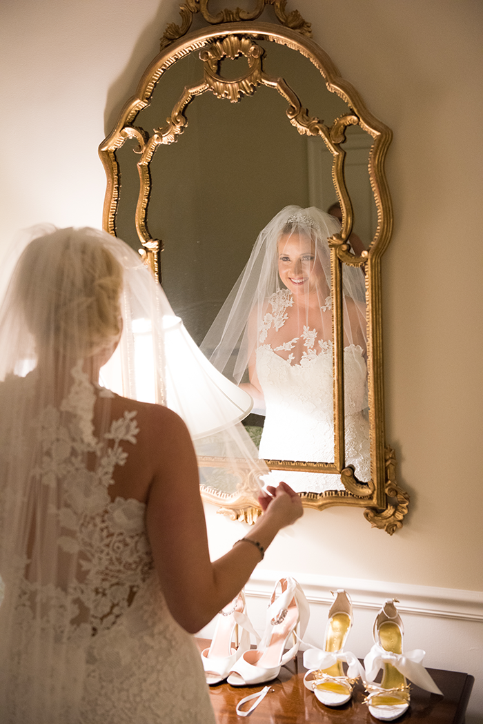 Nicole & Jan-Oliver - Elegant Emerald Wedding | New Image Photography | As seen on Todaysbride.com | real ohio wedding, emerald and gold wedding colors, elegant wedding, wedding photography, bride, veil with hair, bridal gown