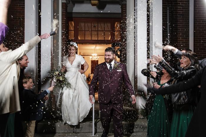 Wedding Exit | Karen Menyhart Photography | as seen on TodaysBride.com
