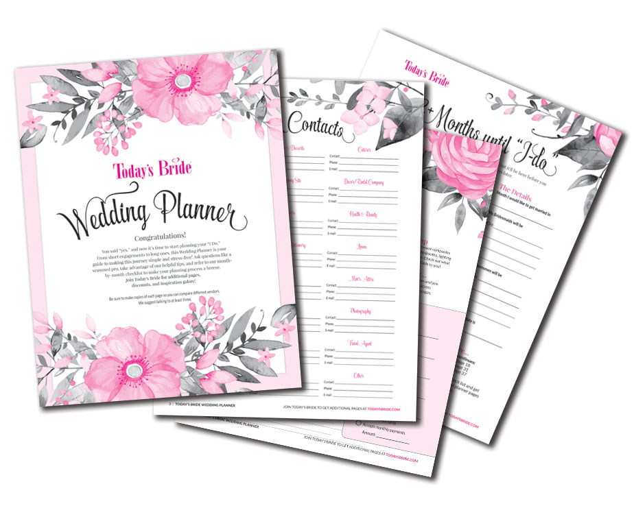 photograph about Printable Wedding Planning named Todays Bride Printables Todays Bride