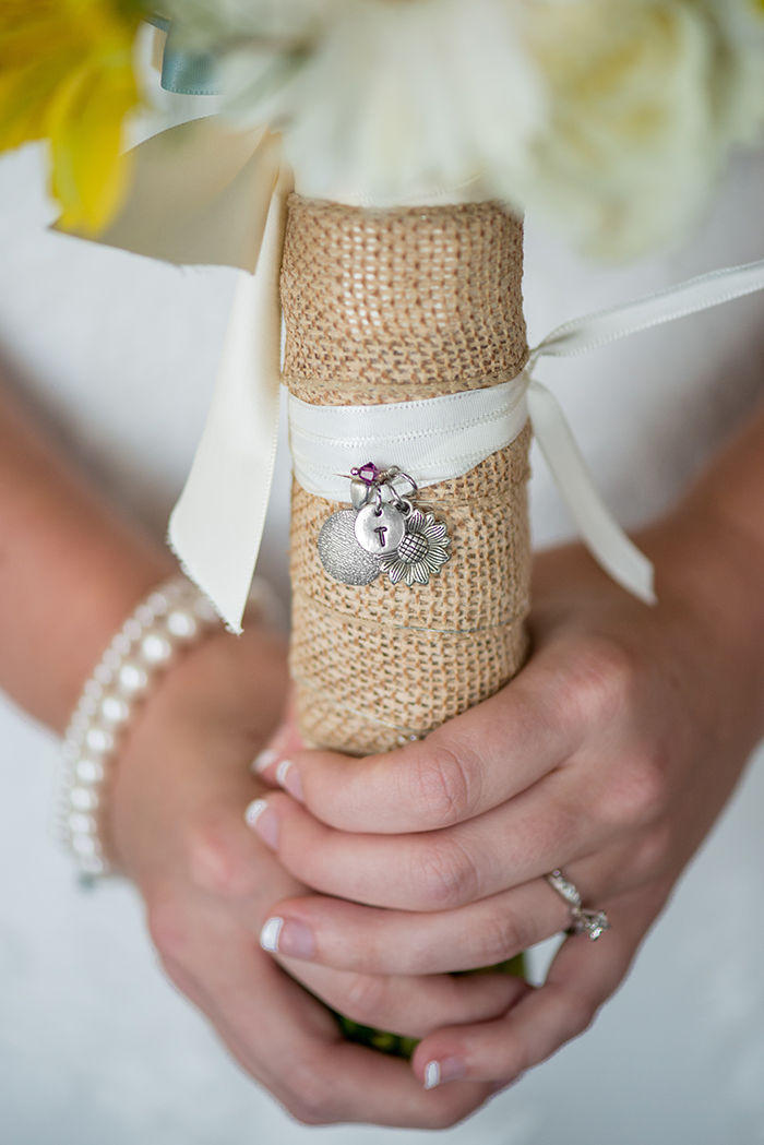 Jessica & Nathan - Fall-ing Head over Heels | three & Eight Photography | Real Ohio Wedding as seen on TodaysBride.com | fall wedding, fall wedding decor, wedding photography, sunflower wedding, purple and sunflower wedding, bridal bouquet
