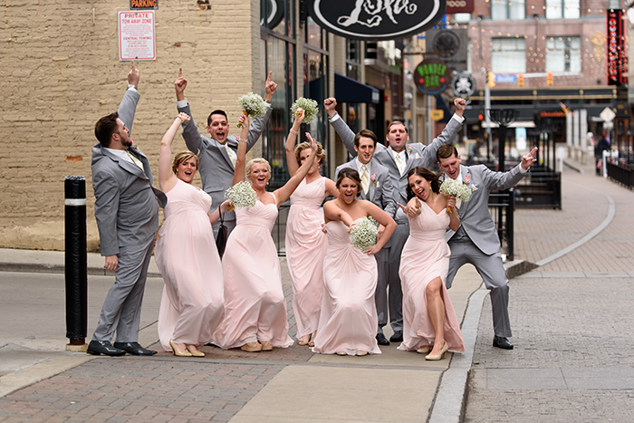 Randi & Scott - The Best Day Ever! | Cirino Photography | Real Wedding as seen on Todaysbride.com Today's Bride | real cleveland ohio wedding, blush and gold wedding photography, blush bridesmaid gowns