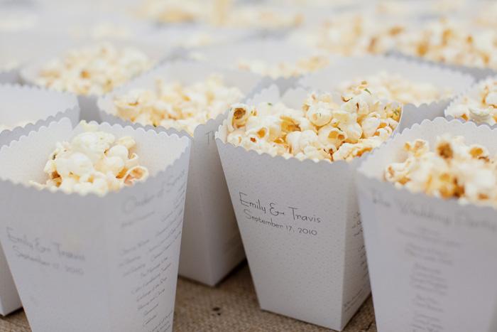 Popcorn Program | Clane Gessel Photography | As seen on TodaysBride.com