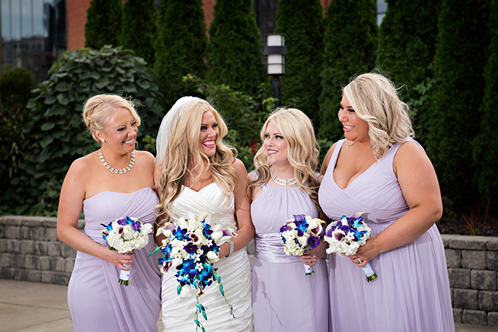 Nicki & Michael - A Wedding On The Flats | Justin Ketchem Photography | Real Ohio Wedding as seen on Todaysbride.com | Cleveland real wedding, lavender and teal wedding, wedding photography, cleveland wedding ideas, lavender bridesmaid dresses