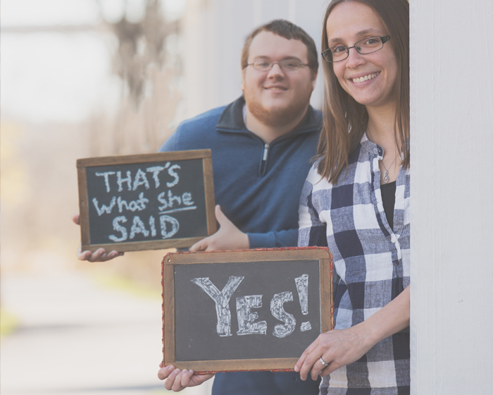 Engagement Signage   OH Snap! Photography   As seen on TodaysBride.com