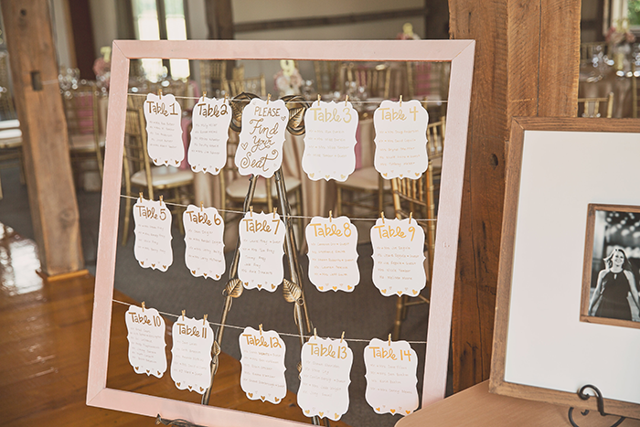 Amanda & Shawn - The Sweetest Day | Oh Snap! Photography | Real Wedding As seen on TodaysBride.com | Real ohio wedding, blush and gold wedding, wedding photography, blush and gold wedding color pallet escort cards, seating chart