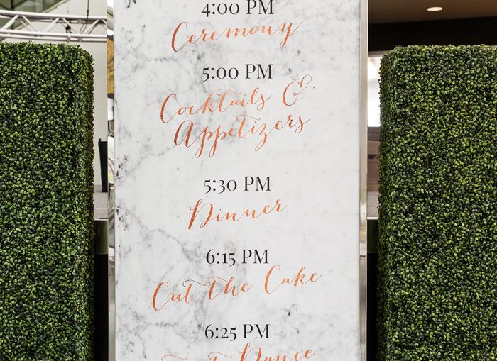 Wedding Signage | Genevieve Nisly Photography | As seen on TodaysBride.com