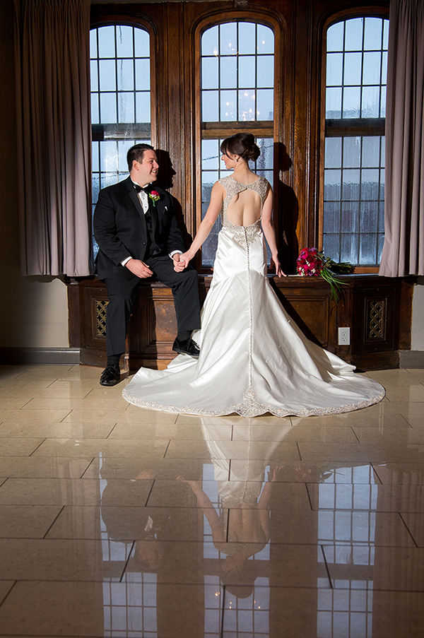 Meghan & Roberto - Seasonal Scarlet Wedding Day | Real Cleveland Ohio Wedding as seen on TodaysBride.com, scarlet red and grey pewter wedding inspiration, elegant wedding
