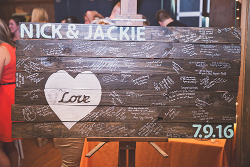 Jackie & Nicholas - Rustic Tree Farm Wedding | Oh Snap! Photography, real Ohio wedding as seen on TodaysBride.com, country ohio wedding, rustic wedding, pallet guest book