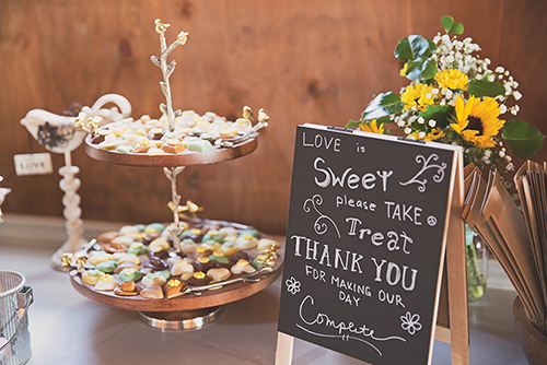 Jackie & Nicholas - Rustic Tree Farm Wedding | Oh Snap! Photography, real Ohio wedding as seen on TodaysBride.com, country ohio wedding, rustic wedding, dessert table sign