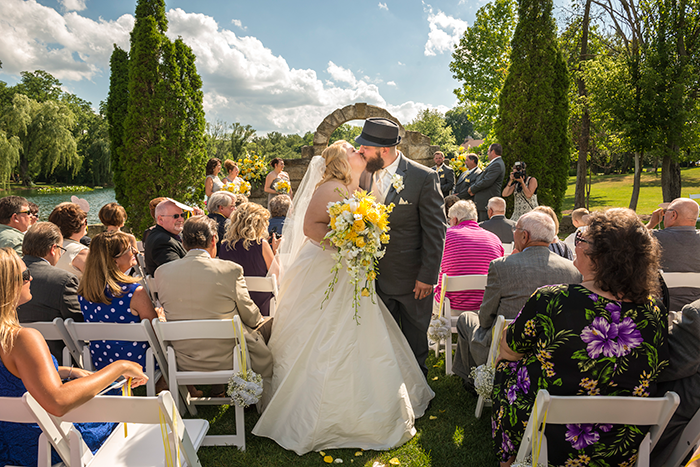 Kimberly & James - Vineyard Chic | Dom Chiera Photography, Real Ohio Wedding as seen on TodaysBride.com, gervasi vineyard wedding, yellow and grey wedding, vineyard wedding, wine themed wedding