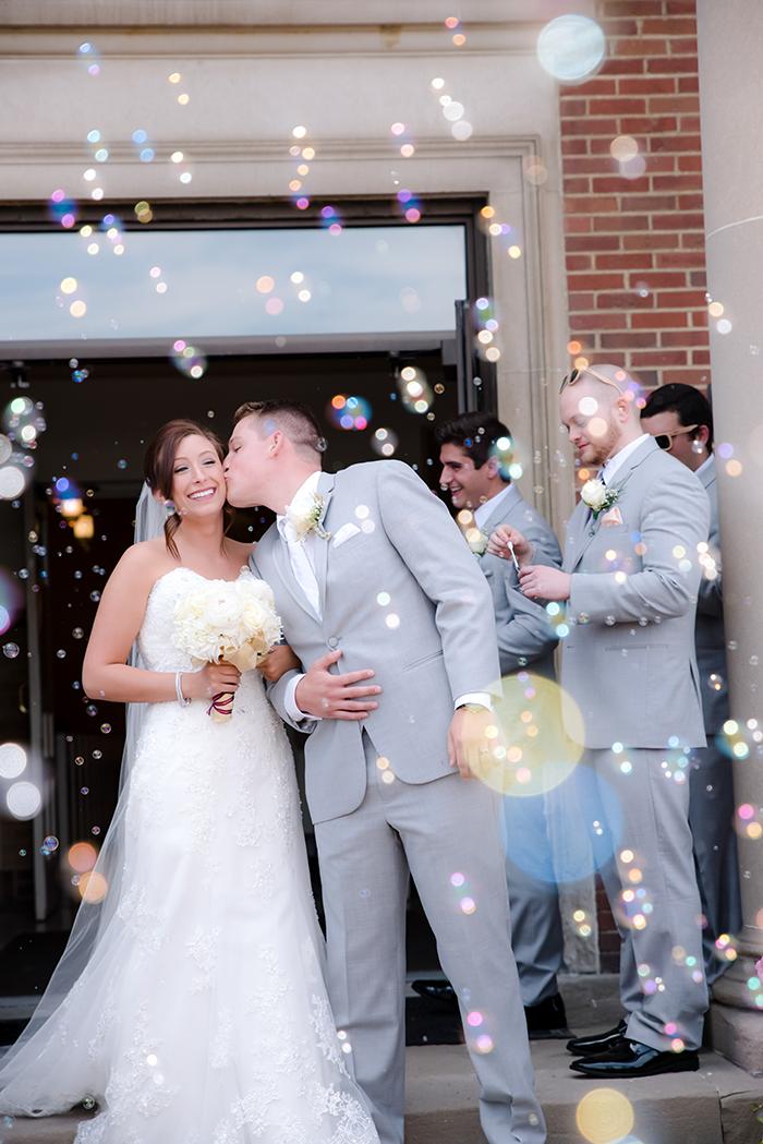 Sarah & Nathan - Pretty in Plum | Jadie Foto | Cleveland Wedding as seen on Todaysbride.com, plum wedding decor, purple wedding, bride and groom