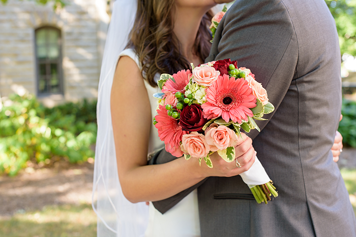 Katie & Greg - Coral & Cranberry Wedding | Sabrina Hall Photography, Real Wedding as seen on TodaysBride.com. coral and cranberry wedding, wedding inspiration,