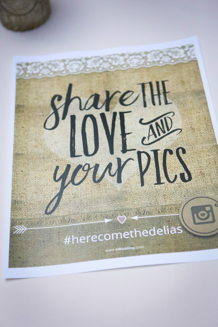 Wedding Hashtag | Malick Photo | As seen on TodaysBride.com