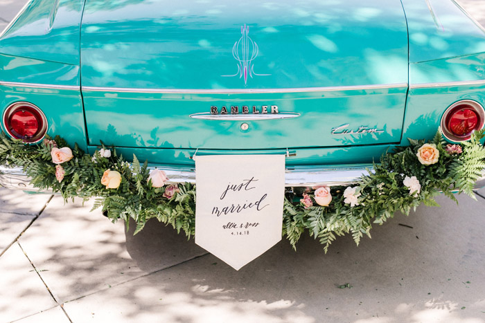 Just Married | Anna Delores Photography | As seen on TodaysBride.com