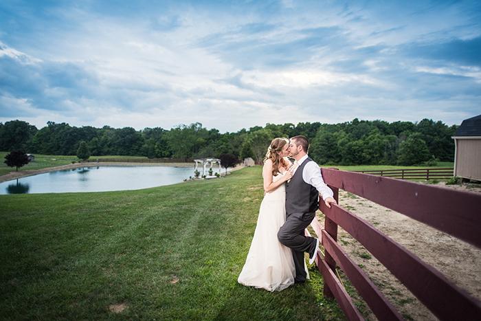 Caitlin & Patrick - Peacock Ridge Wedding | Real Ohio Wedding as seen on TodaysBride.com, photographed by Black Dog Photo Co, Rustic wedding