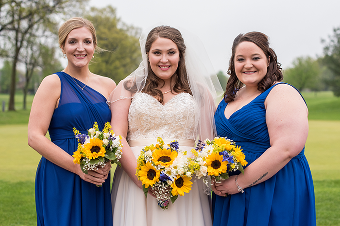 Kelsey & Brandon - Spring Sunflower Wedding, as seen on TodaysBride.com, sabrina hall photography, blue and yellow wedding with sunflowers, plus size bride, blue and yellow wedding colors