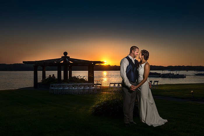 Nicole & Chad - Chippewa Lake Wedding photographed by Dom Chiera Photography on TodaysBride.com, sunset lake wedding, summer wedding,