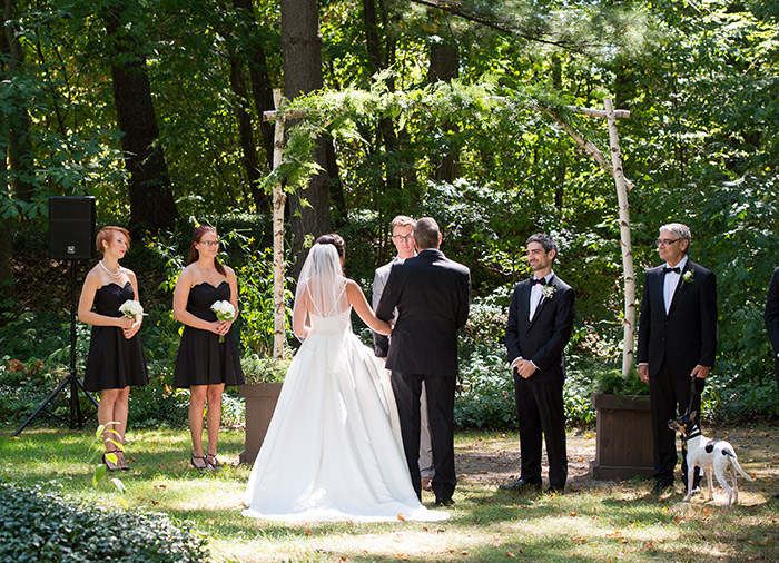 Emily & Carlos - Breathtaking Stan Hywet Wedding, Klodt photography in akron, ohio, black and white garden wedding