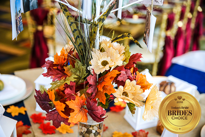 Today's Bride Wedding Show Reception Table Gallery, fall wedding decor, fall wedding inspiration