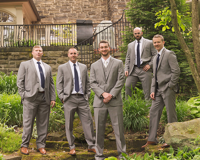 Rachel & Robert - Todaro Party Center Wedding, real wedding, navy and coral wedding, old truck wedding photos, wedding inspiration, grey groomsmen suits