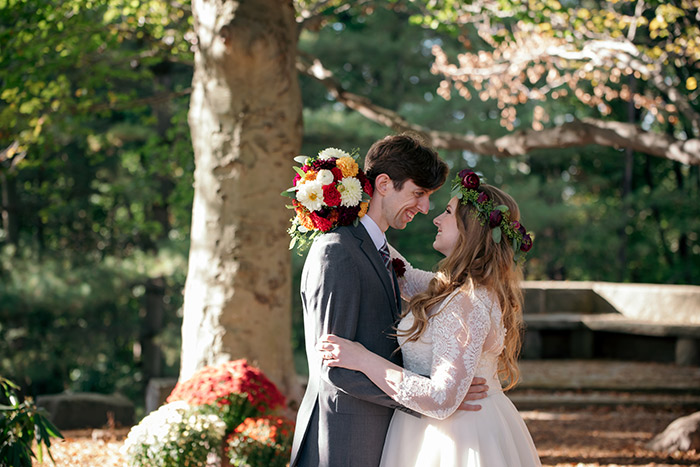 Real akron ohio wedding, flower crown, bridal, stan hywet wedding, outdoor wedding, garden ceremony, wedding inspiration
