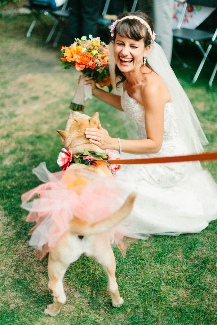 Pets in Wedding | Kate Romaneski Photography | As seen on TodaysBride.com