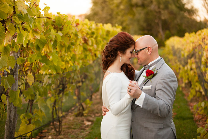 Katherine & Andrew FALL in Love at Gervasi Vineyard, vineyard wedding, fall wedding, green and burgundy wedding colors, fall wedding photo ideas