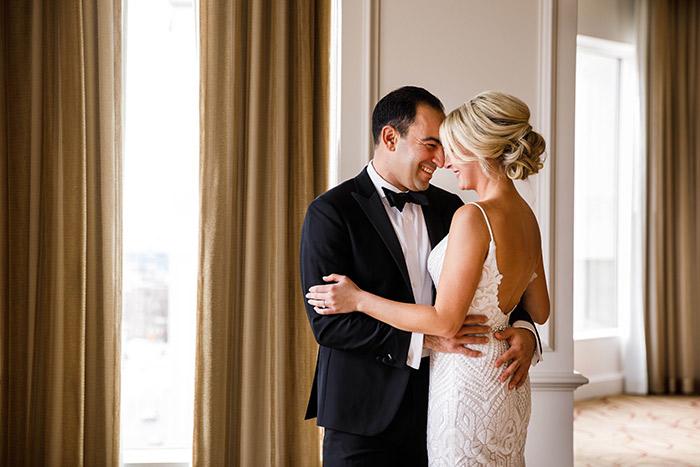 Megan & Angelo's Marvelous Museum Wedding, gorgeous art museum wedding inspiration, winter wedding