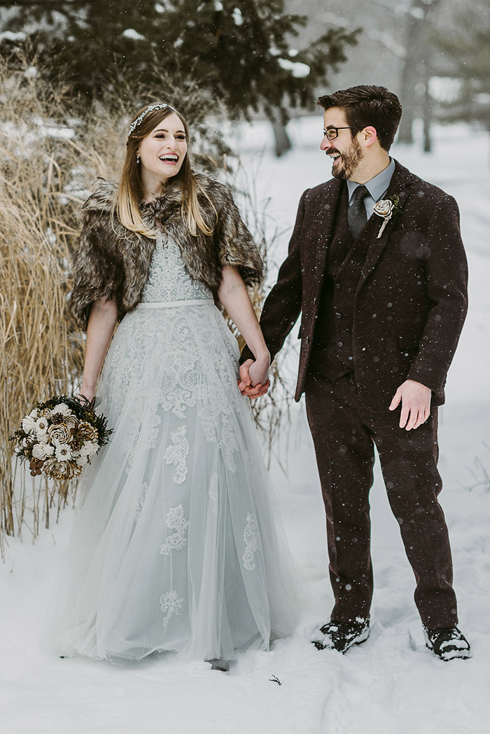 Jessica & James' Intimate Snowfall Wedding, winter wedding, winter wedding ideas, winter wedding inspiration