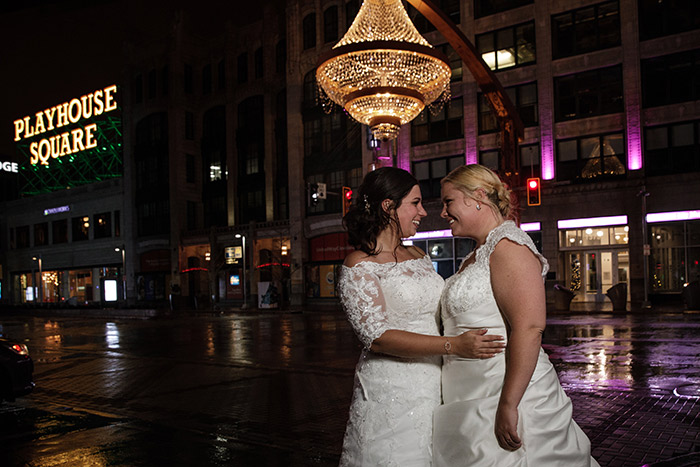 Erica & Kim's Cleveland Love Story, lgbtq wedding, wedding inspiration, gay wedding inspiration, karen menyhart photography on todaysbride.com