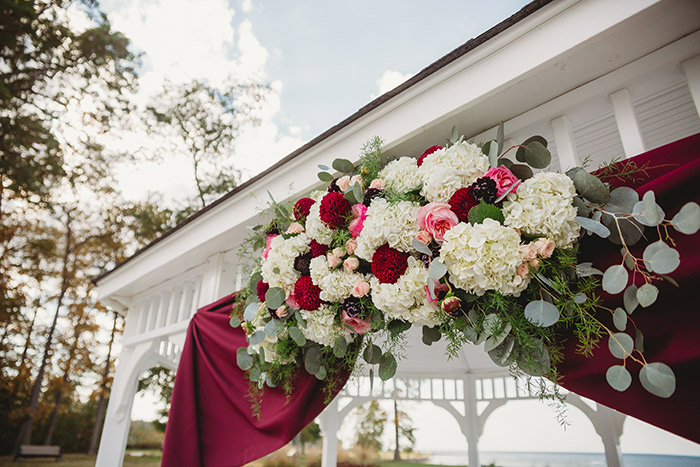 Kari & Tristan's Lodge at Geneva-on-the-Lake Real Wedding, burgundy and navy wedding, ohio wedding, real wedding, bride, groom, destination wedding, lake wedding