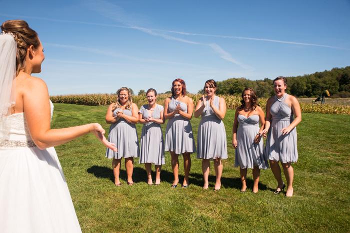 Bridesmaid First Look | Jadie Foto | As seen on TodaysBride.com