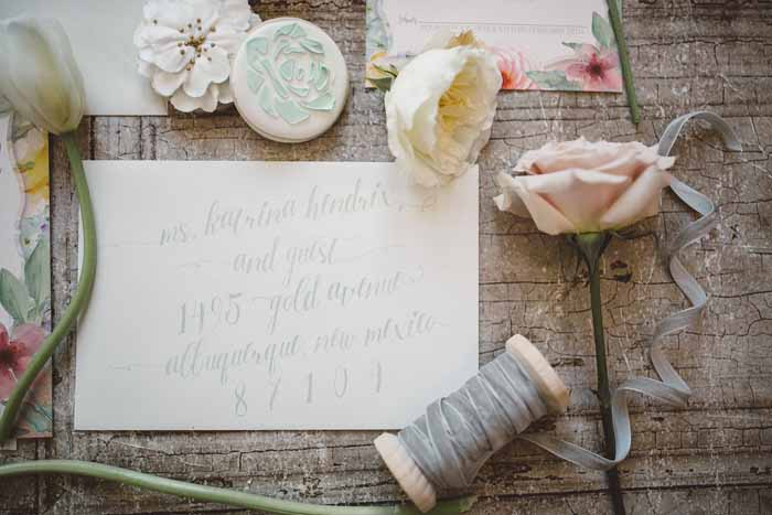 Addressing Invitations | Alicia Lucia Photography | As seen on TodaysBride.com