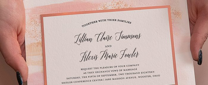 Wording your LGBTQ Wedding Invitations