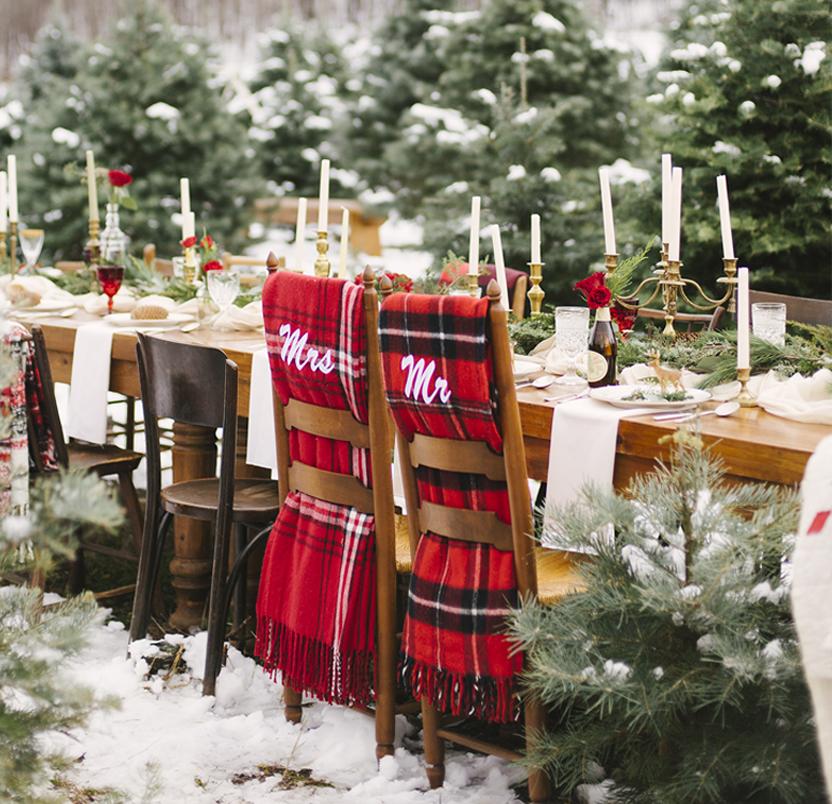 Christmas Tree Farm Styled Shoot
