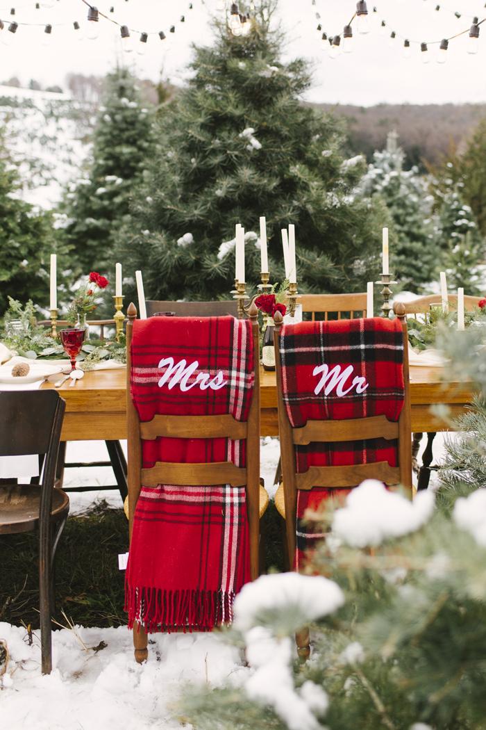 Alicia King Photography | As seen on TodaysBride.com | Holiday Wedding Décor