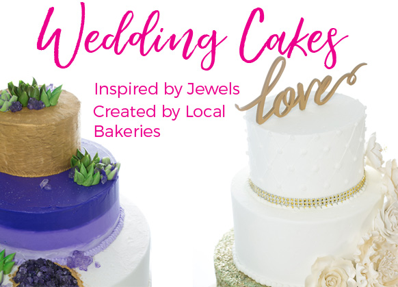 Local Bakeries Create Wedding Cakes Inspired by Jewels