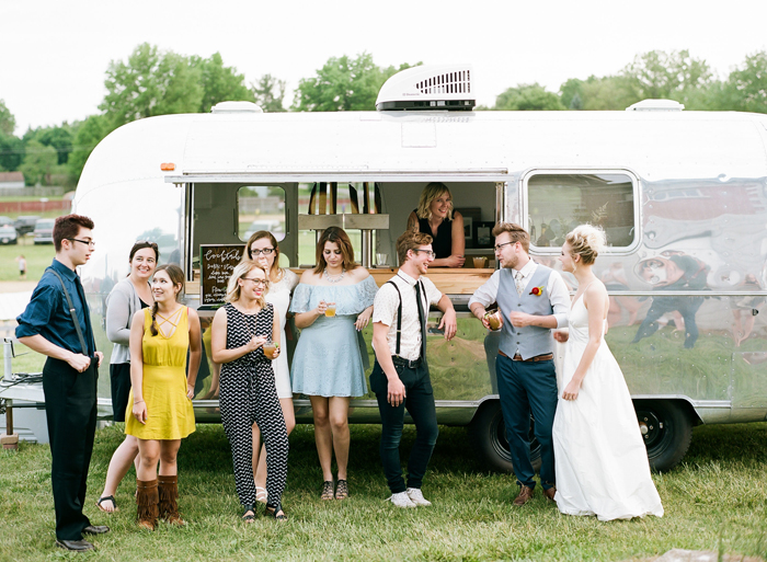 Happy Camper Bar Car | As seen on TodaysBride.com