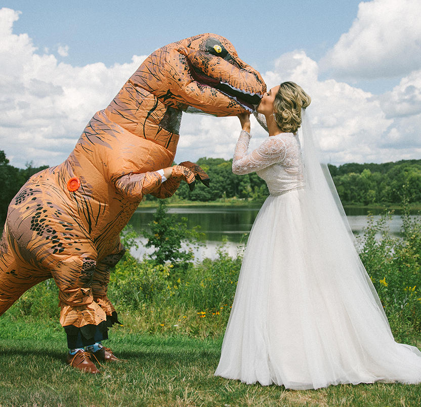 Kat & Nicholas DINOmyte Real Wedding