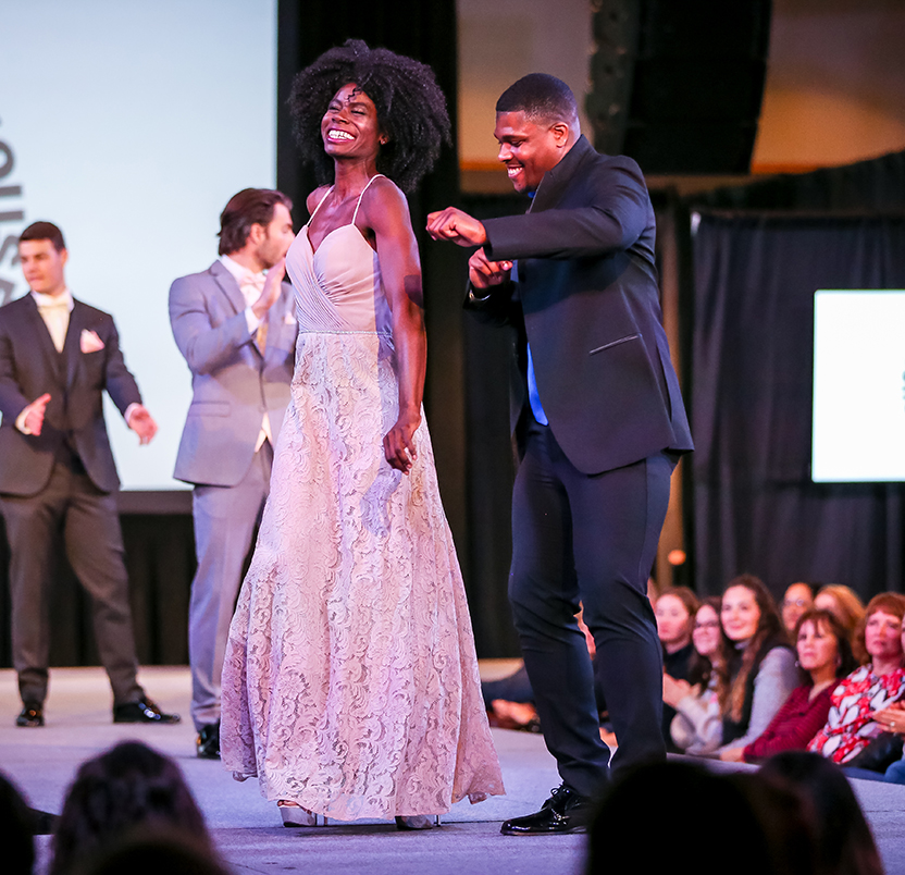 See the latest fashions up on stage