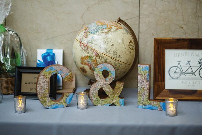 Travel Themed Wedding | Genevieve Nisly Photography | As seen on TodaysBride.com