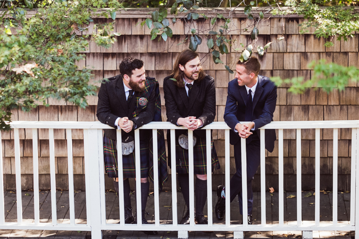 groom and groomsmen in kilts | John Patrick Images | As seen on TodaysBride.com