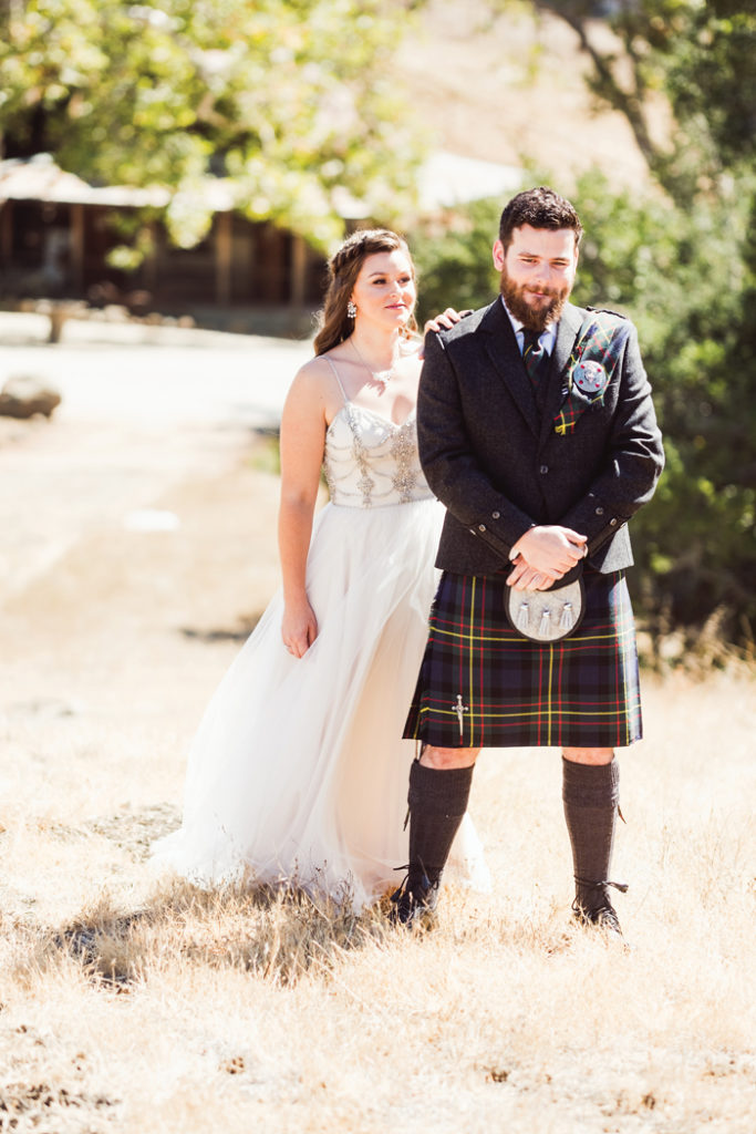 Bride and groom doing first look | John Patrick Images | As seen on TodaysBride.com