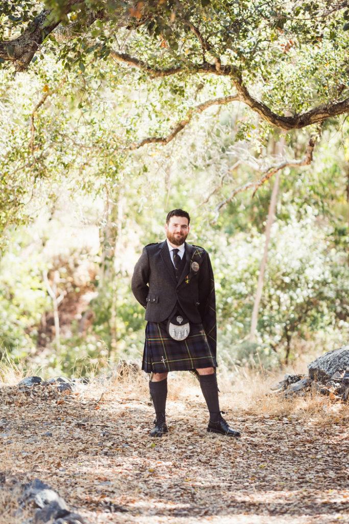 groom wearing kilt | John Patrick Images | As seen on TodaysBride.com