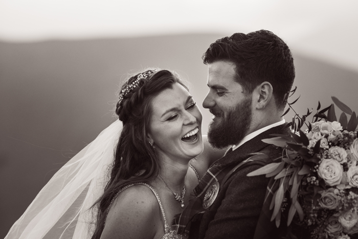 Bride and groom laughing | John Patrick Images | As seen on TodaysBride.com