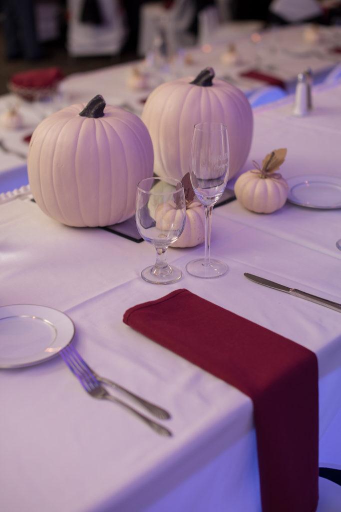Pumpkin Centerpiece | Sabrina Hall Photography | As seen on TodaysBride.com