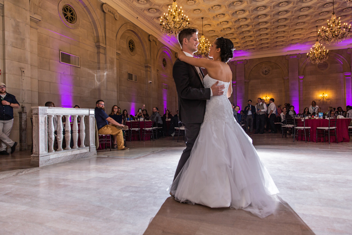 Bride and Groom First Dance | The Cleveland Photographic Co. | As seen on TodaysBride.com