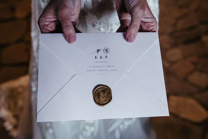 Invitation | Fred Bolge Lux Wedding | As seen on TodaysBride.com